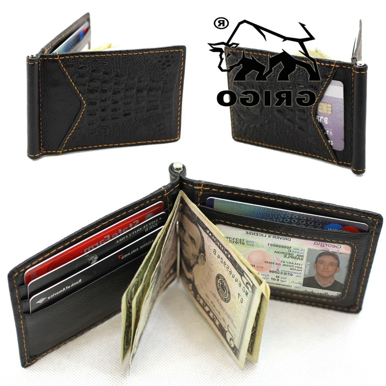 Slim Thin Wallet Money Credit Card Holder Pocket