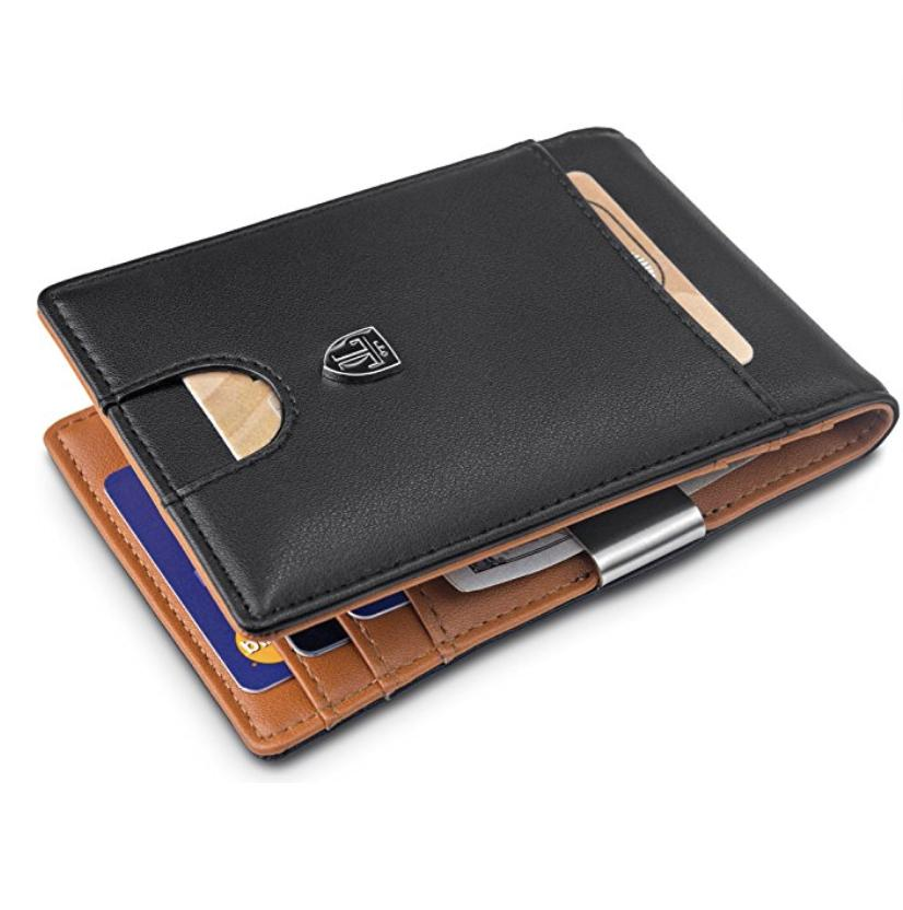 Slimfold Minimalist Wallet Cool for Men Bifold with Money Cl