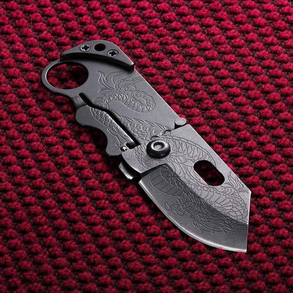 Small Pocket Folding Wallet Knife.-Tactical Knife / Money Cl