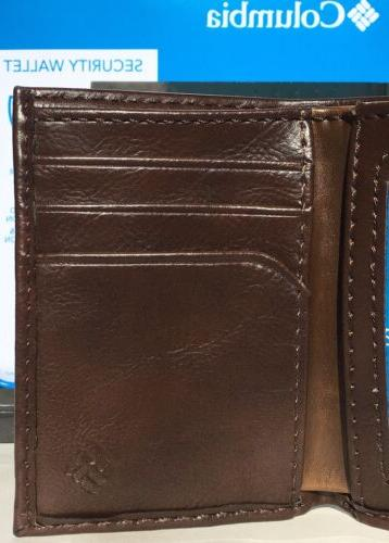 COLUMBIA Built In Shield Trifold Wallet