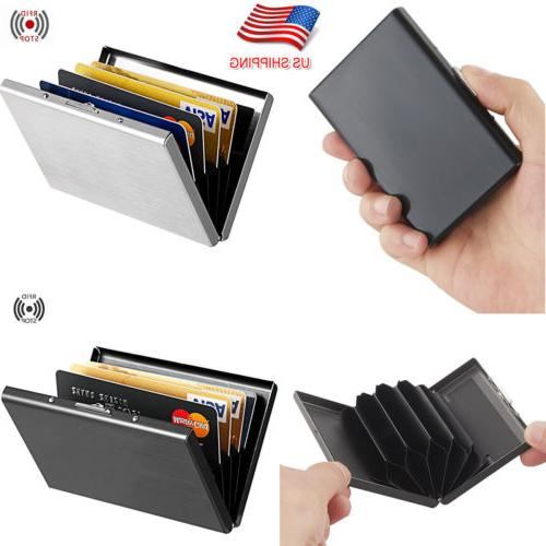 stainless steel credit card holder rfid blocking
