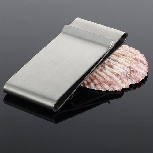Stainless Steel Sided Money Clip Men's Wallet Credit 10-3