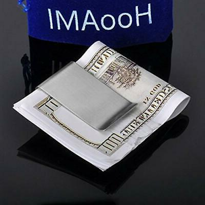 Stainless Sided Silm Money Clip Credit Card Wallet Home ""