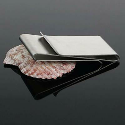 Stainless Steel Double Sided Silm Money Card Holder ""