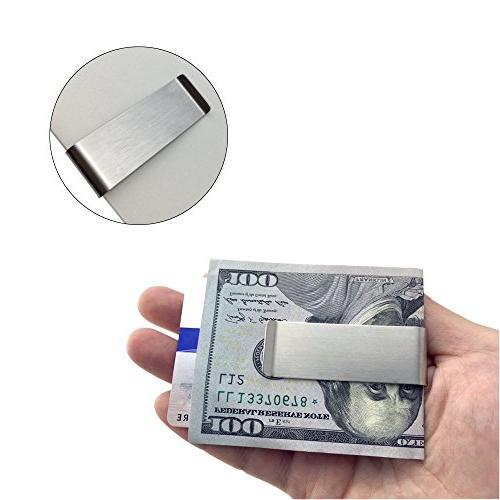 Stainless Clip, SourceTon Slim Wallet, Credit Minimalist Wallet -