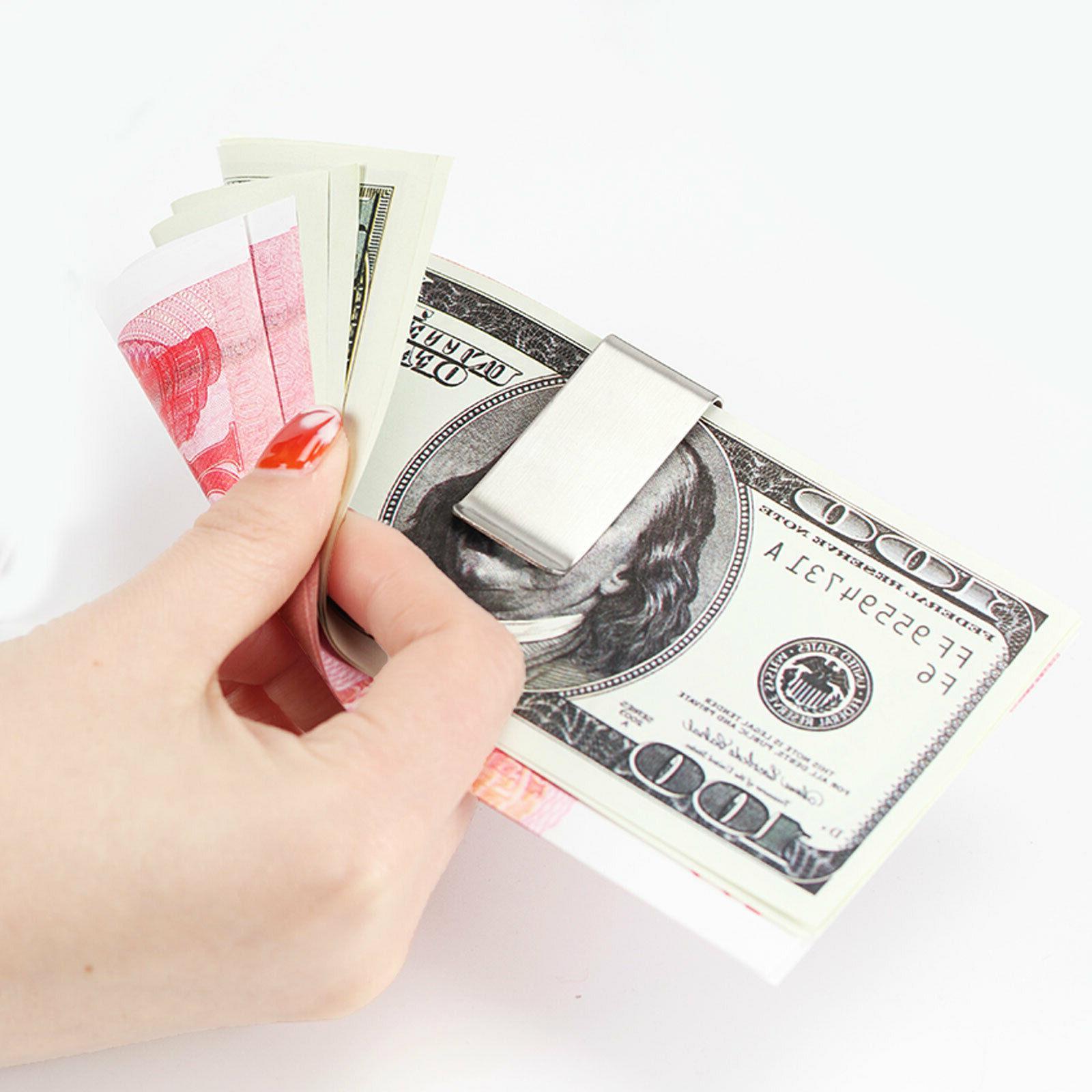 Money Credit Holder Wallet Steel