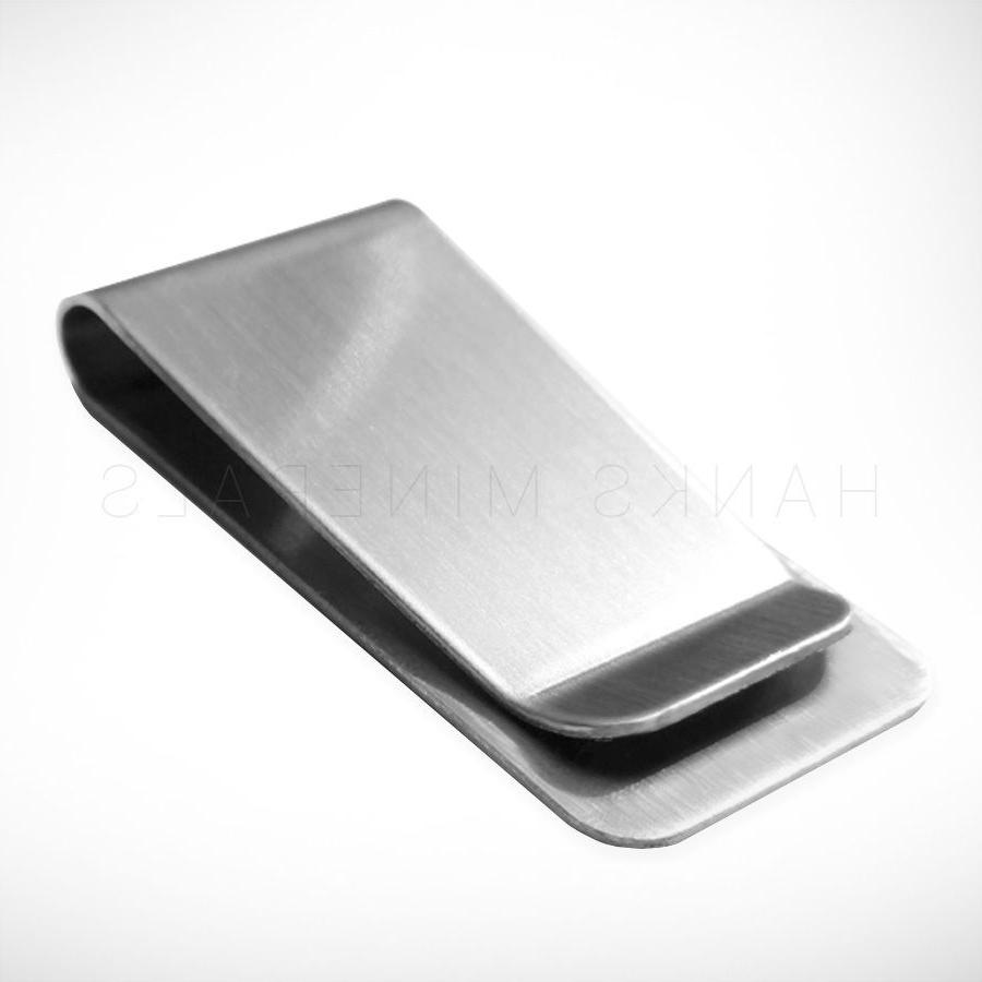 Stainless Steel Clip Silver Wallet