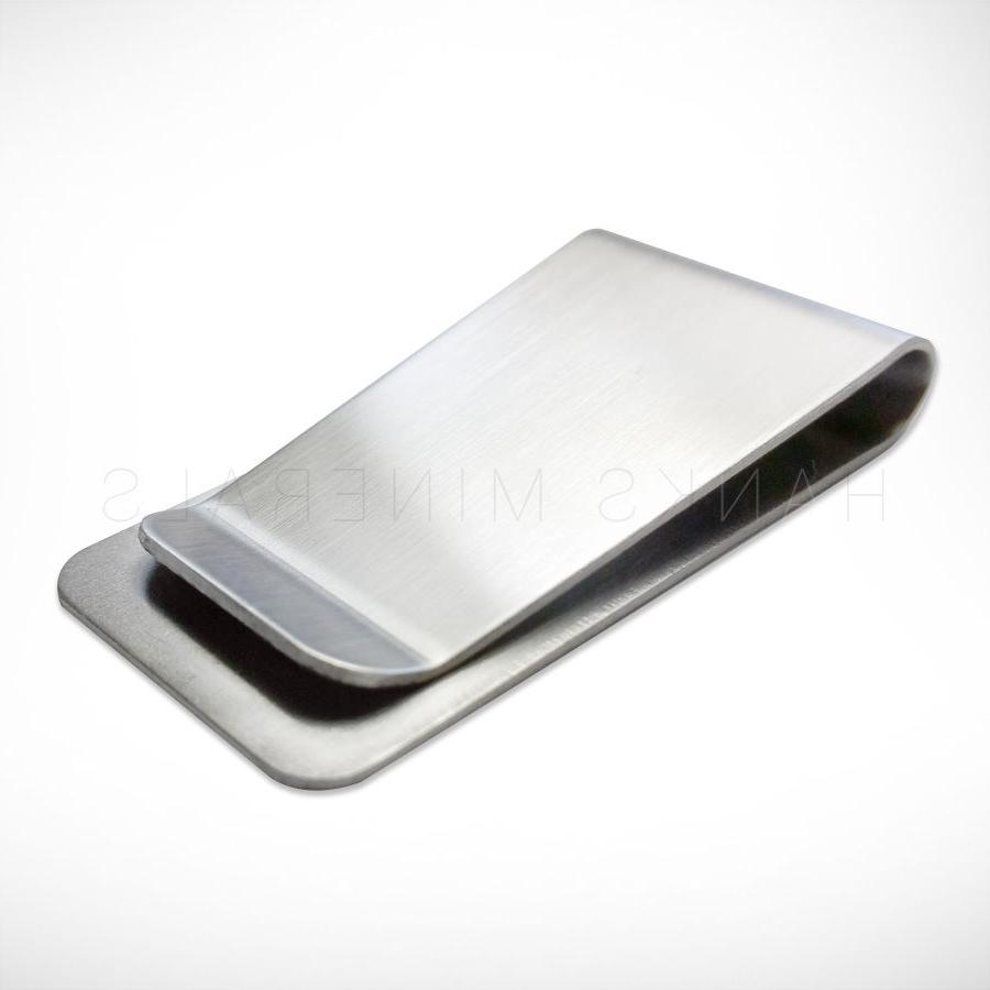 stainless steel money clip silver metal pocket