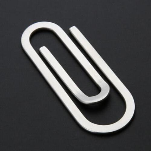 Stainless Steel Paperclip Money Clip Metal Card Wallet Holder