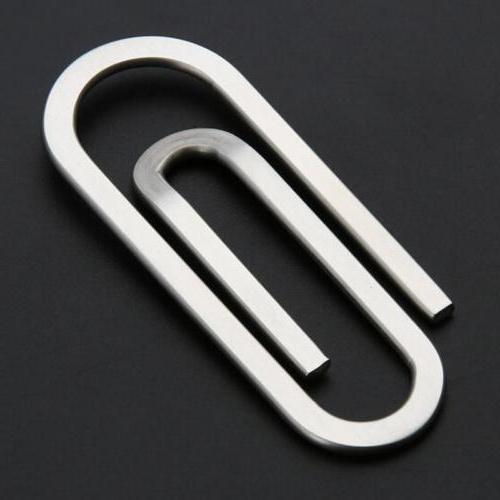 Stainless Paperclip Clip Credit Wallet