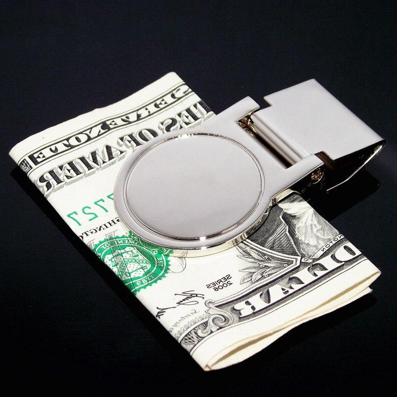 Stainless Steel Silver Magic Quality Metal Banknote Holder for Men