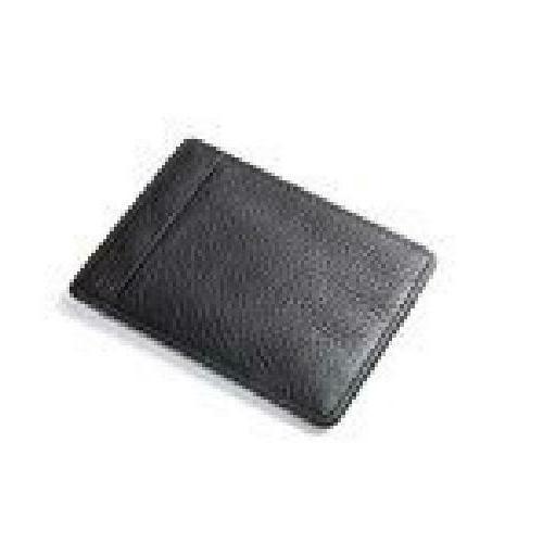 Strong Genuine Black Leather Fiber Money Clip