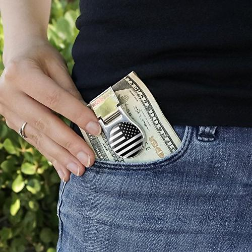 Black Tactical Satin Money Clip