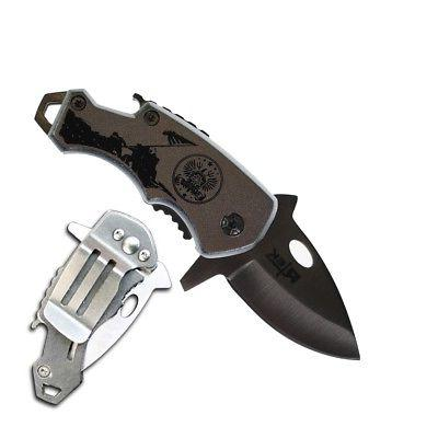 RTek USA Tactical Clip Folding Spring Open 7 Army, Marines, Special Fire Department, Police, Air