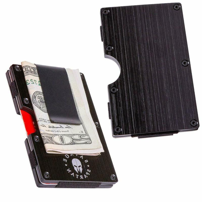 Savage Tactical Wallet Aluminum Holder With Money