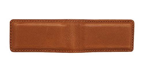 Tan Montana Magnetic Money Clip American - Money Holder - Made in Real Leather