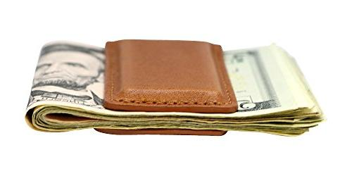 Tan Montana Leather Magnetic Clip American Direct Money Leather