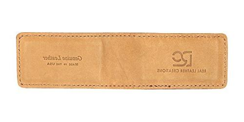 Tan Montana Leather Magnetic Money American Factory - Money in USA by Leather