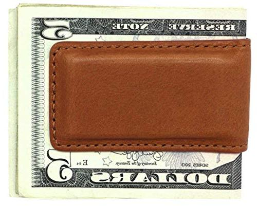 Tan Montana Genuine Leather Money Holder in Real Leather Creations FBA492