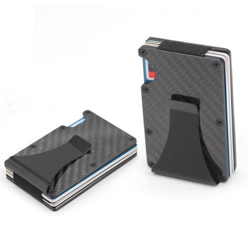 The Card Wallet Fiber Front Pocket Slim RFID USA