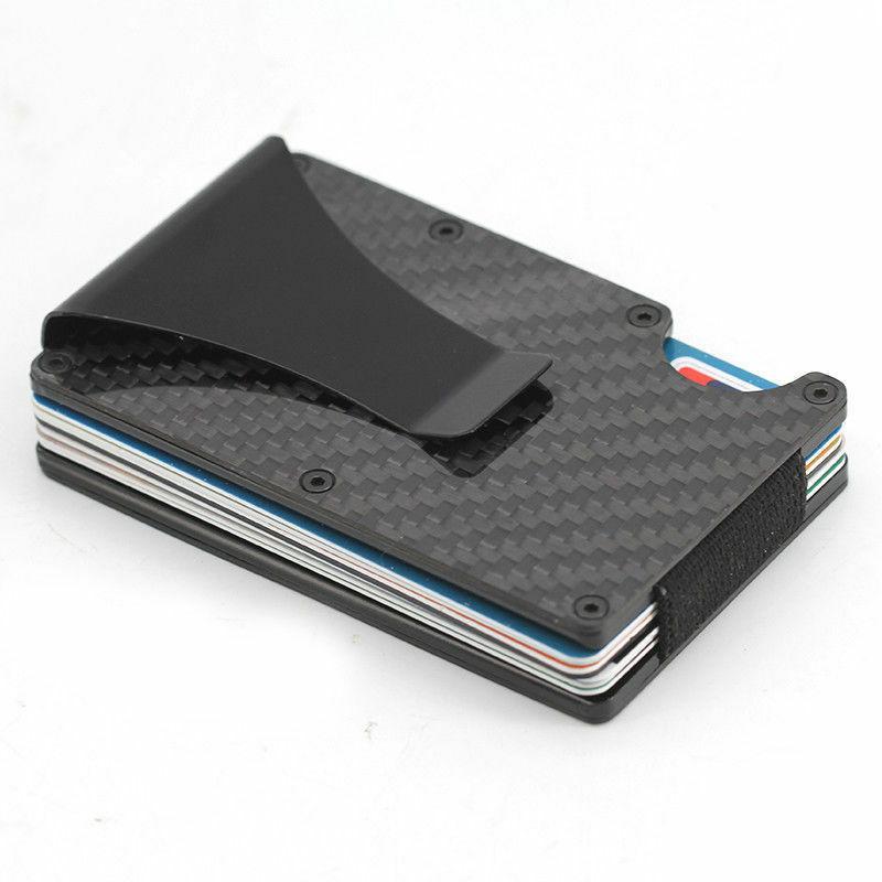 The Wallet Carbon Fiber Money Clip Minimalist Front Pocket USA