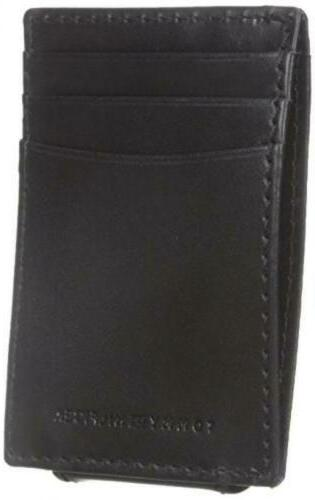 Tommy Men's Leather Slim Front One Black