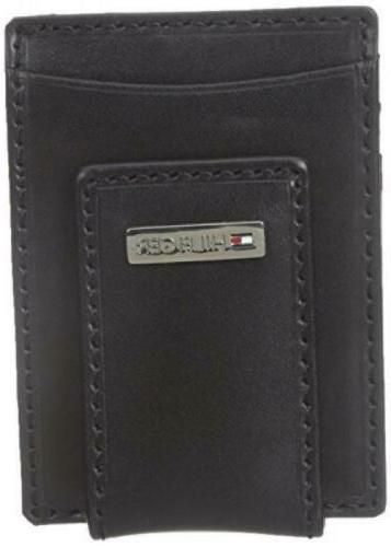 tommy hilfiger men s leather slim front