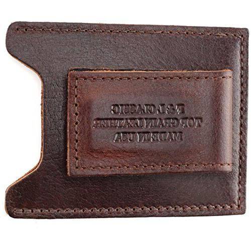 Top Grain Leather Money Clip Strong