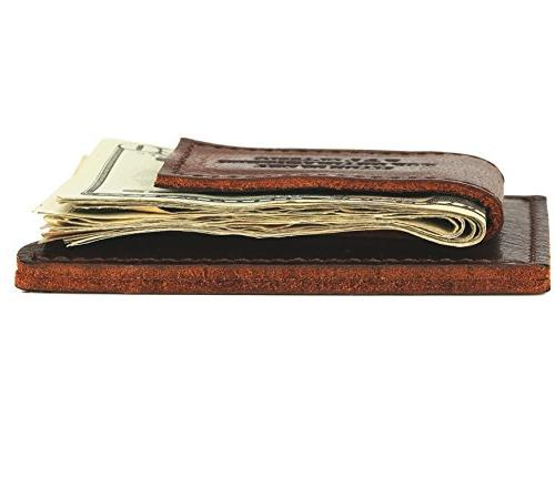 Clip Strong Wallet,Made USA,Brown