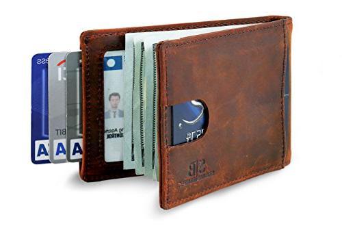 travel wallet rfid blocking bifold slim genuine