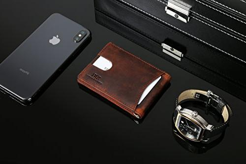 Travel Wallet Thin Front Wallets for Clip - Full