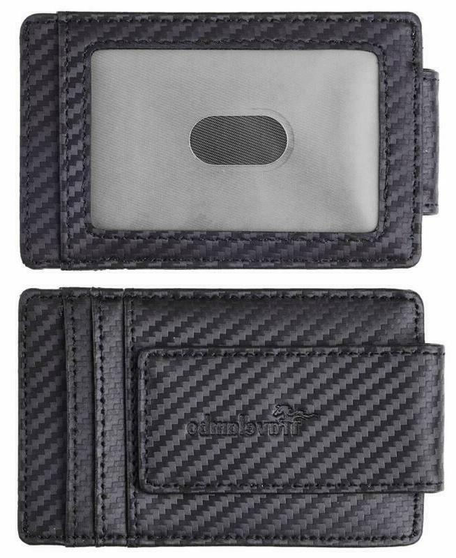 Travelambo Money Clip Front Pocket Wallet Wallet RFID Blocking