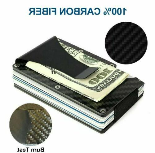 RFID Money Clip Mens Credit Holder Wallet