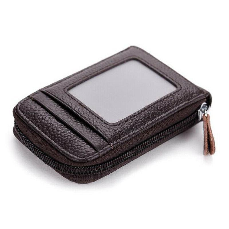 Unisex RFID Blocking Wallet Clip Credit ID Purse