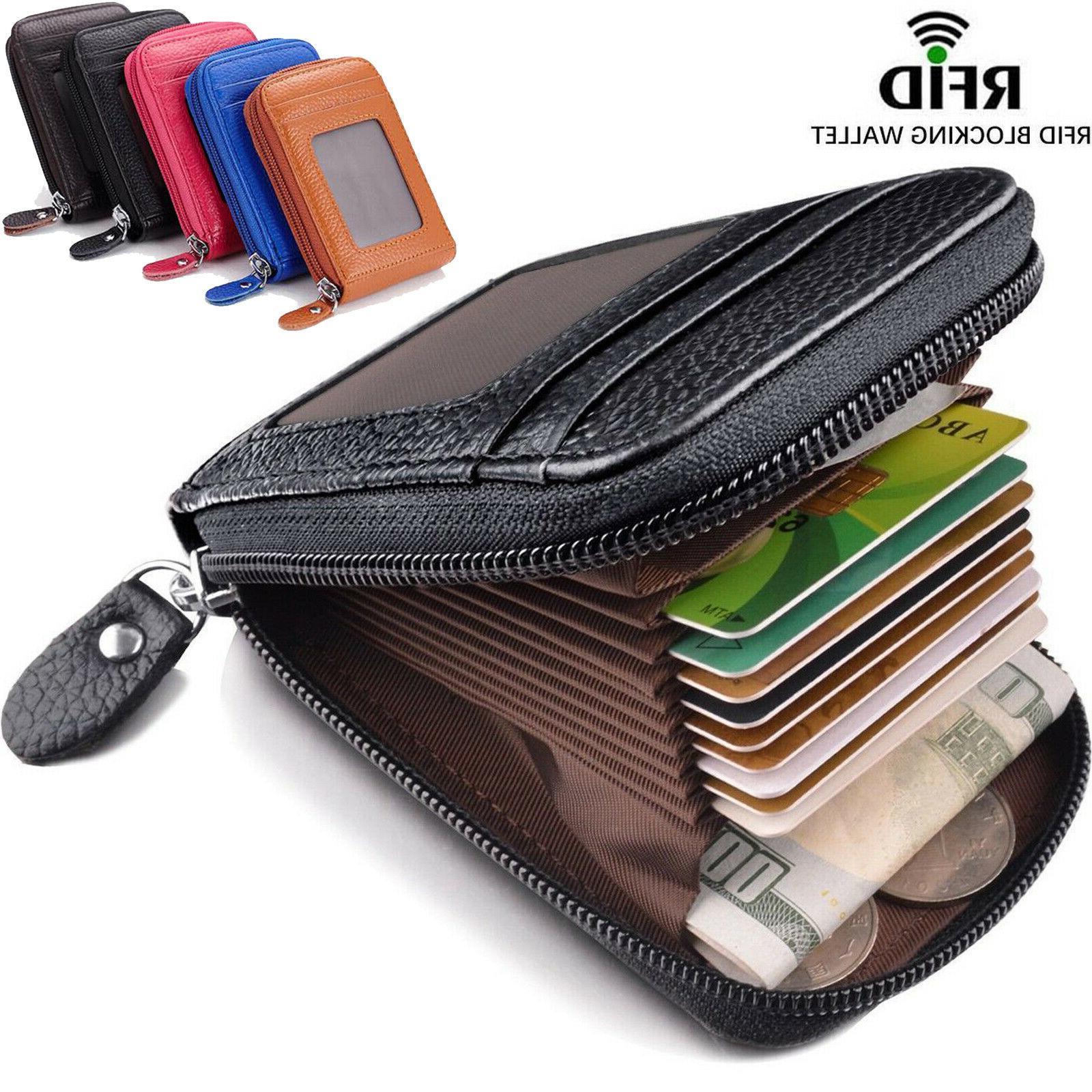 unisex rfid blocking slim wallet leather money