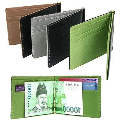 Unisex Ultra-Thin Magic Money Clip Faux Leather Card Holder