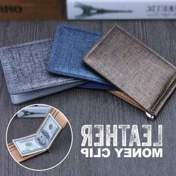 us leather money clip portable lightweight