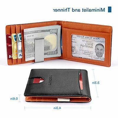 US Mens Money Clip Slim Holder Wallet