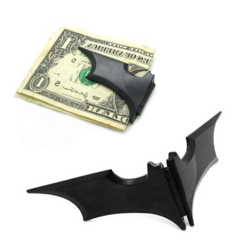 Utility Mens Stainless Steel Batwing Bat Slim ID Cash Money