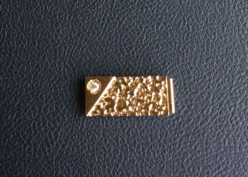 VINTAGE GOLD NUGGET MONEY GOLD PLATED