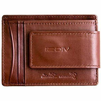 VIOSI Wallet Slim Front Pocket Credit Holder