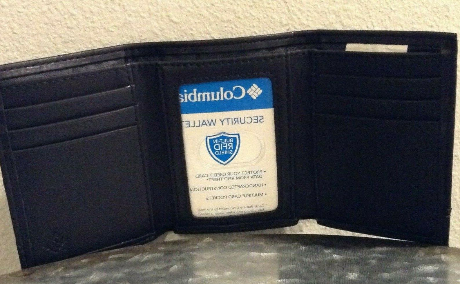 Columbia Wallet Clip RFID Multiple Pocket Black