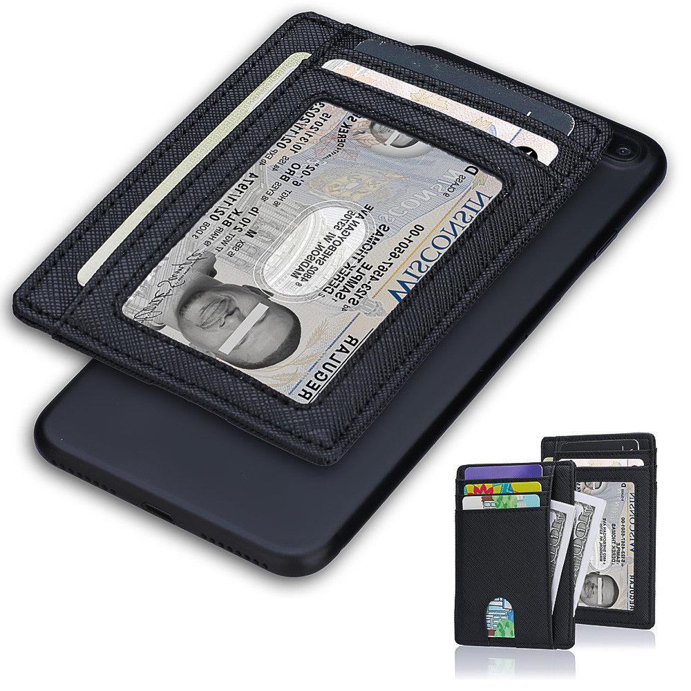 Wallet Leather Wallet Money Clip ID