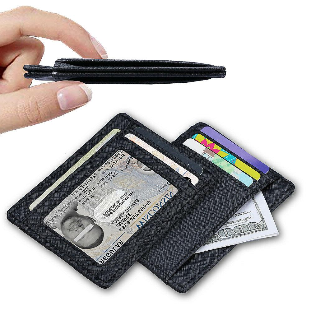 Wallet Leather Wallet Money Clip and RFID Blocking