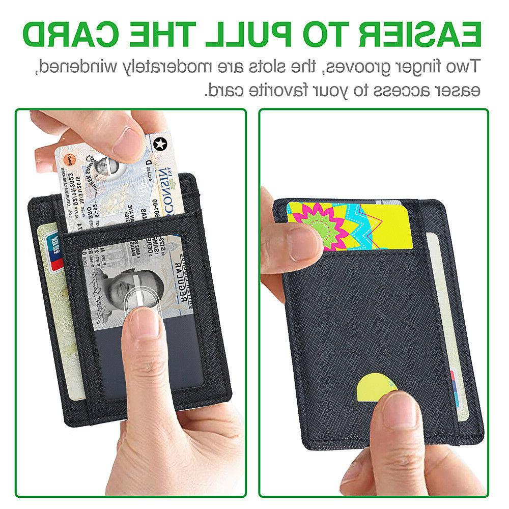 Wallet for Men Leather Wallet Clip and RFID