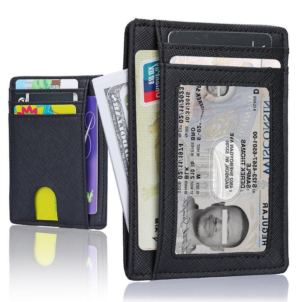 wallet for men slim leather wallet