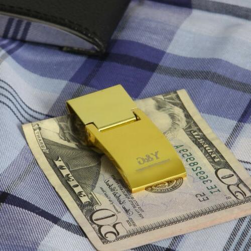 Y&G Steel Money Clip Groomsman Gift One Size Gold