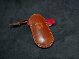 Leather case made for Victorinox  Swiss army knife 74 mm.