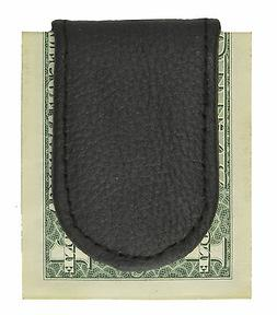 Leather Magnetic Plain Money Clip by Leatherboss