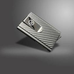 Leather Money Clip Magnetic ID Credit Business Card Wallet R